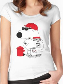 Beware of dog Women's Fitted Scoop T-Shirt