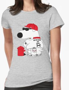 Beware of dog Womens Fitted T-Shirt