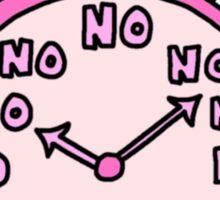 no clock Sticker