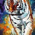 TIGER - OIL PAINTING BY LEONID AFREMOV by Leonid  Afremov