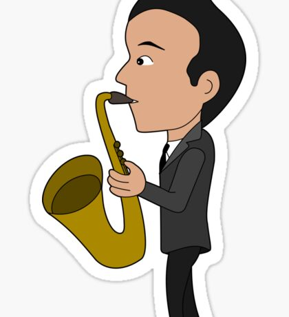 Saxophone player cartoon Sticker