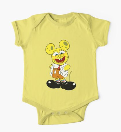 Sponge mickey One Piece - Short Sleeve