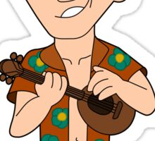 Cartoon banjo player Sticker