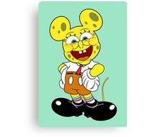 Sponge mickey Canvas Print