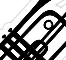 Trumpet silhouette Sticker