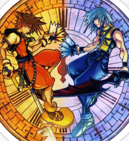 Sora and Riku Clock Edit (by GloomyGloo) Sticker