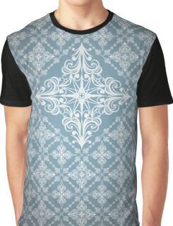 Abstract Geometric Pattern - Curly Vector Squares Graphic T-Shirt