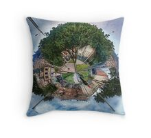 The Big Tree, The Little Planet. Throw Pillow