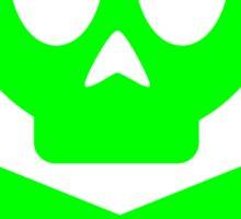 Poison Skull and Cross Bones ( Green ) Sticker