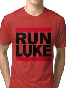 RUN LUKE (Black font) Tri-blend T-Shirt