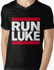 RUN LUKE (White font) Mens V-Neck T-Shirt