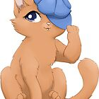 Cute cat wearing a hat by Tunnelfrog