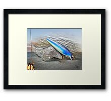 Vintage Fishing Lure - Floyd Roman Nike Blue and White Framed Print