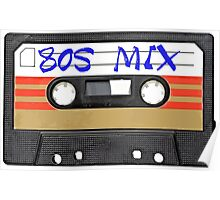 80s MIX - Music Cassete Tape Poster