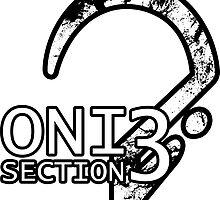ONI Section 3 - Badge Sticker (white) by devoltar