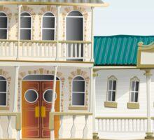 Australian Town Buildings Sticker