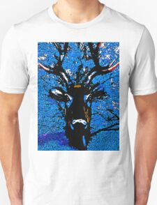 Reindeer:  The Blue Tree Deer T-Shirt