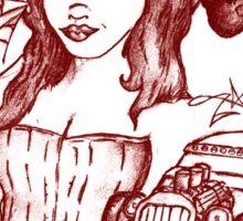 Psycho Gal (red Ink) Sticker