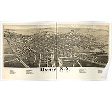 Panoramic Maps Rome NY Poster
