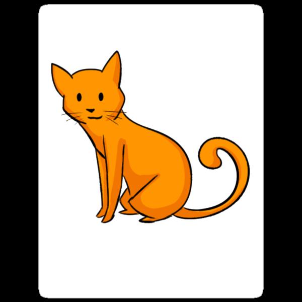Chibi Orange Cat Sticker by exoticcheese