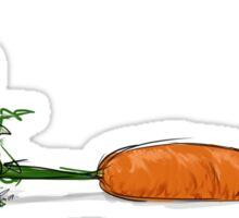 Marshamallow Bunny Pulling Carrot Sticker