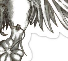 Sparrow and Clover Sticker