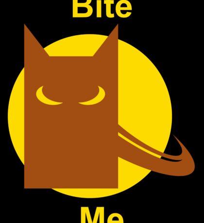 Bite Me (Square Sticker & Throw Pillow) Sticker