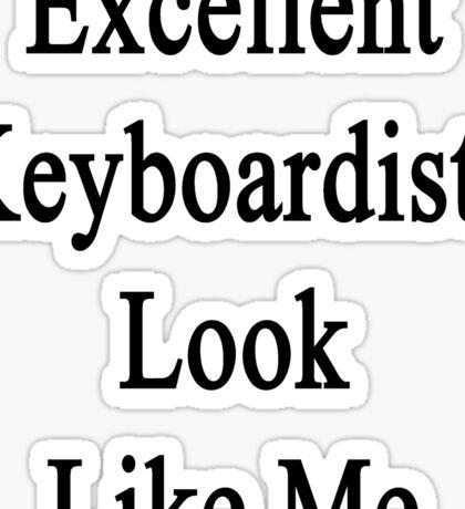 Excellent Keyboardists Look Like Me Sticker