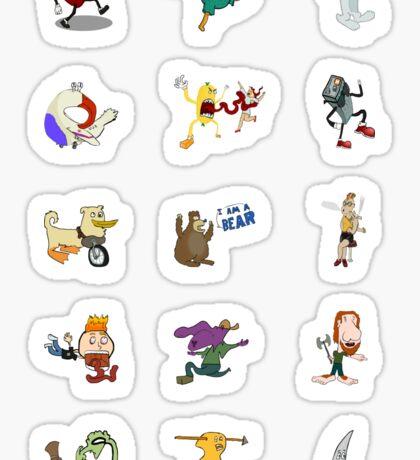Random Weirdos #1 - Mini Sticker Set [15 count] Sticker