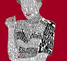 Irene Adler Typography Art by andersaur