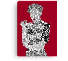 Irene Adler Typography Art Canvas Print