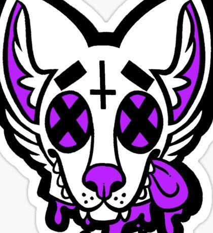 Dead Dog Purple Sticker