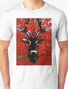Reindeer:  The Red Deer Tree T-Shirt