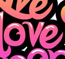 Live, Love, Kpop (Sticker) Sticker