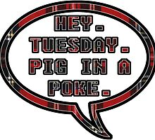 Pig In A Poke Red by Rachael Michelle