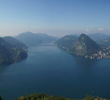 Lake Lugano from Monte Bré by bartfrancois