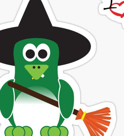Halloween Penguin - Witch Sticker