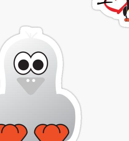 Halloween Penguin - Ghost Sticker