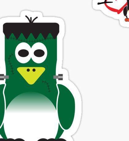 Halloween Penguin - Frankenstein Sticker