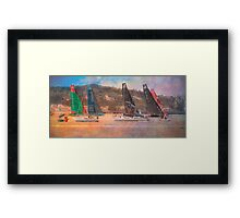 the race....8June2012...Lisbon Framed Print