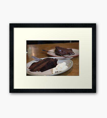 Chocolate Fudge Cake Framed Print