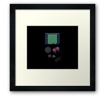 Video Old Game Boy Console  Framed Print
