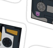 Decepticon Cassettes (stickers, set II)  / pillow / tote bag Sticker