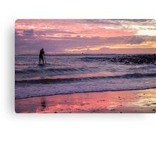 SUP Sunrise Burleigh Canvas Print