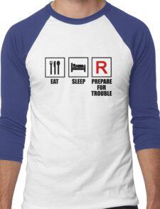 Eat, Sleep, Prepare for Trouble! Men's Baseball ¾ T-Shirt