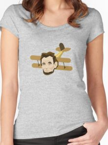 A is for Abraham Lincoln Airplane Women's Fitted Scoop T-Shirt