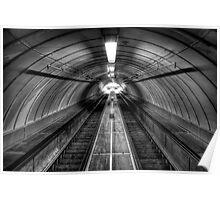 Pedestrian Tunnel Escalators Poster