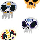 Mexican Day Of The Dead Skill Stickers by Claire Stamper