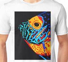 Angel Fish Swimming in the Deep Unisex T-Shirt