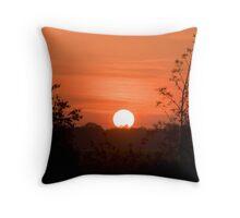 Sunset over Maun Throw Pillow